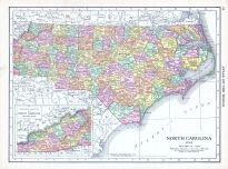 North Carolina, World Atlas 1913